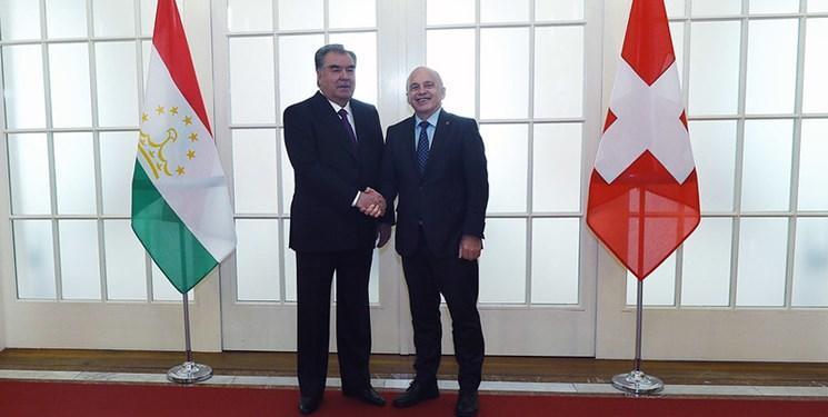 دیدار روسای جمهور تاجیکستان و سوئیس؛ گسترش همکاری های محور مذاکرات