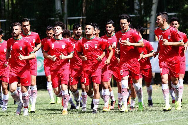 دیدار محبت آمیز تیم ملی امید قطر با ایران
